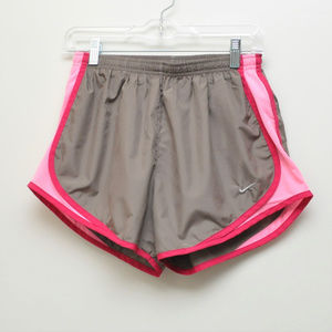 Nike Dri-Fit Taupe Pink Running Shorts Size M